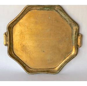 TILDE OCTAGONAL GOLD FLORENTINE TRAY