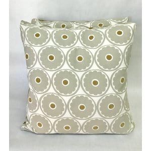 GRAY AND GOLD PILLOW