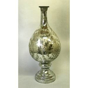 TALL MERCURY GLASS DECOR VASE