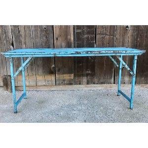 TABITHA BLUE METAL TABLE