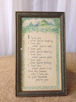 Small Love poem Print