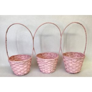 Pink flower girl baskets