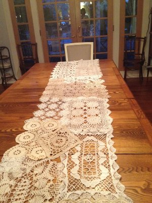 Crocheted Runner for head table