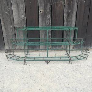 GREEN METAL PLANT STAND