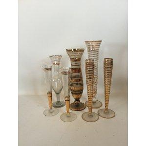Gold trim bud vases