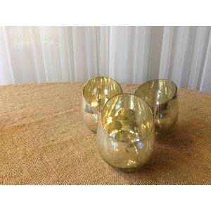 Short Mercury Glass Vases