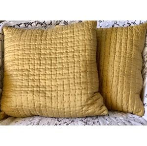 GOLD QUILTED SILK PILLOW