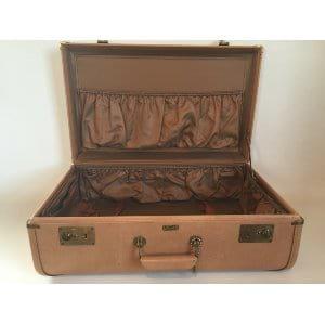 beige suitcase