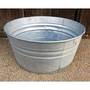 BERTHE LARGE ROUND GALVANIZED TUB