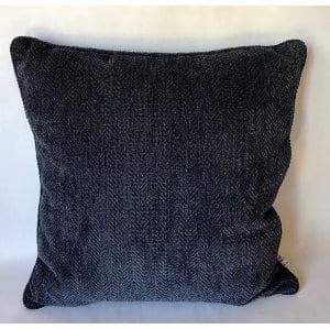 Navy herringbone pillow