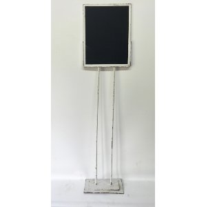 MATHIS  WHITE METAL CHALKBOARD STAND