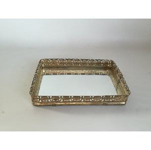 Small gold mirrored tray 7.5