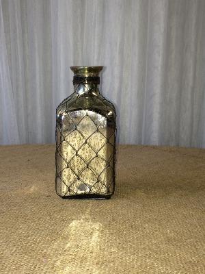 Square Mercury Glass Vase