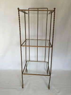 BARON BRASS 3-TIER SHELF WITH GLASS