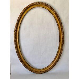 Franklin Large oval gold frame