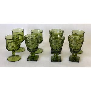 SMALL DARK GREEN GOBLET