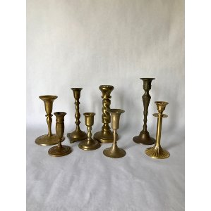 Brass candlestick sm. 3-8 in.