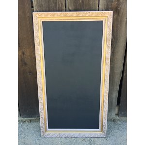 PERRY BLUSH AND GOLD FRAME 24 X 48