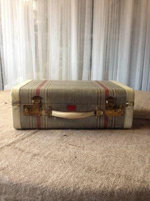 Blue Stripe Suitcase
