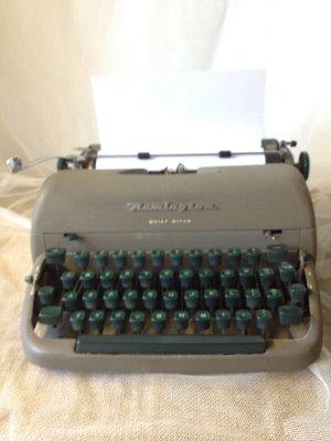 Vintage Gray/Green Typewriter