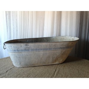 Vintage Galvanized Baby Bathtub