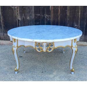 MACEY MARBLE ROUND COFFEE TABLE