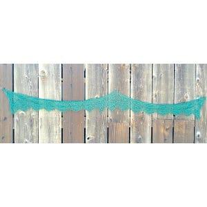 Dark green crochet trim