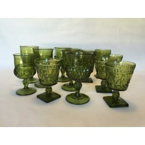 DARK GREEN GOBLET