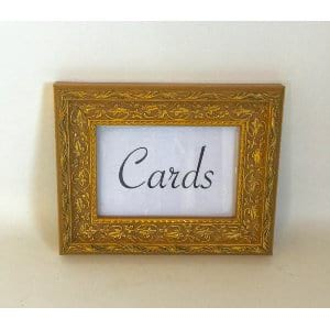 GOLD CARD SIGN