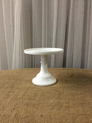 White Petite Cake Plate 6