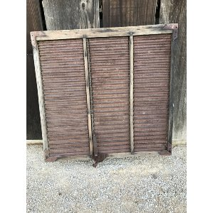 Rustic iron shutter
