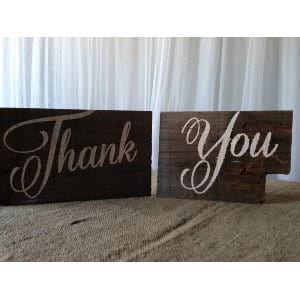 Hand Painted Thank You Sign