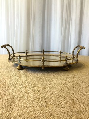 Brass Tray with Handles