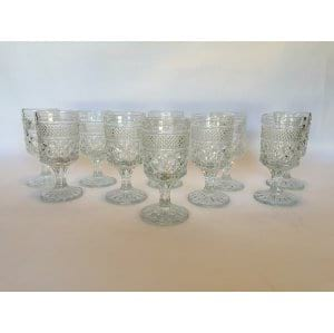 diamond Glass Goblets wine