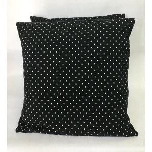 BLACK AND WHITE DOTS PILLOW