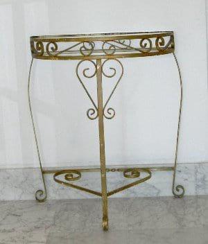 Metal Half Table