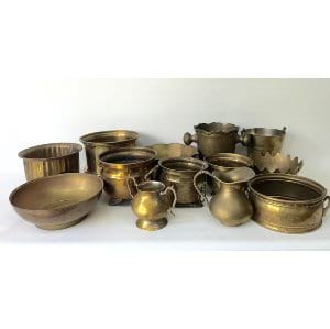 Brass containers