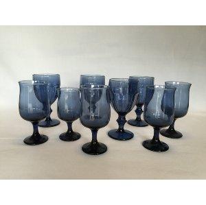 Smokey Blue Goblets