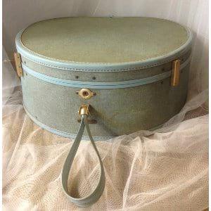 Abby Aqua Hatbox suitcase
