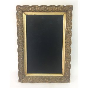 LARRIE ORNATE GOLD CHALKBOARD 12 X 20