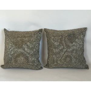 Silver Sequined Pillows