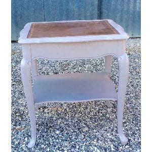 Gavin side table with leather top