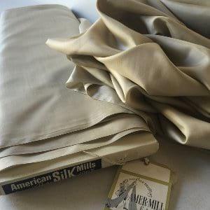 Vintage beige silk