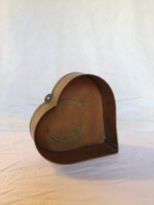 Small Copper Heart Container