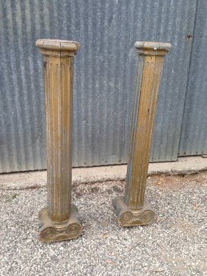 Gold Wood Columns