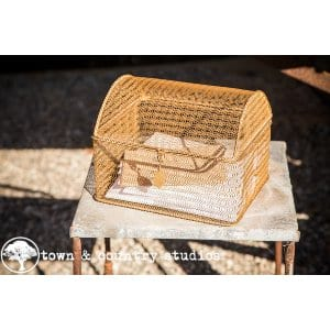 Gold Wire Basket for Cards