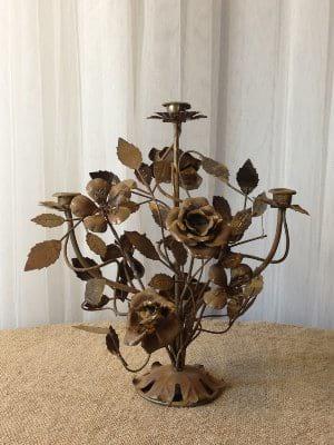 Gold Rose/brass Candelabra