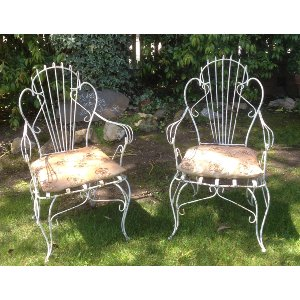 CALLIOPE White Iron Scrolly Chairs