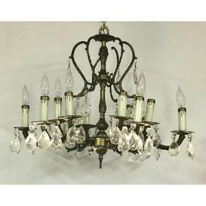 CECILIA brass chandelier