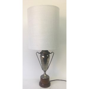 Silver trophy lamp